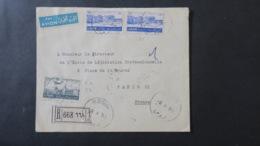 Lettre Recommandé De  Roum Liban 1953 Pour Paris - Líbano