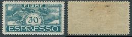 1920 FIUME ESPRESSO EFFIGIE DI D'ANNUNZIO 30 CENT MH * - UR46-7 - 8. Occupazione 1a Guerra
