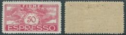 1920 FIUME ESPRESSO EFFIGIE DI D'ANNUNZIO 50 CENT MH * - UR46-7 - 8. Occupazione 1a Guerra
