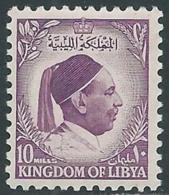 1952 LIBIA REGNO EFFIGIE RE IDRISS 10 M MNH ** - UR47 - Libia