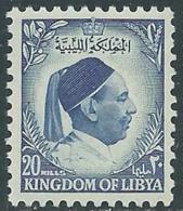 1952 LIBIA REGNO EFFIGIE RE IDRISS 20 M MNH ** - UR47 - Libia