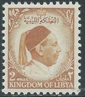 1952 LIBIA REGNO EFFIGIE RE IDRISS 2 M MNH ** - UR45-9 - Libia
