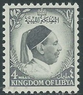 1952 LIBIA REGNO EFFIGIE RE IDRISS 4 M MNH ** - UR45-9 - Libia
