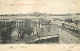 MANTOVA - Panorama (con Ponte S.Giorgio). - Mantova
