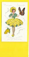 Fantaisie à Système Jeune Fille Fleur Mimosa Papillon Ajoutis Paillettes (IDA 599) - Mechanical
