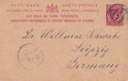 AFRIQUE ORIENTALE1908    ENTIER POSTAL/GANZSACHE/POSTAL STATIONERY CARTE DE LAMU - East Africa & Uganda Protectorates