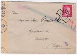 WW2 WWII Deutsches Reich Hitler 12 Pf. Wien GEPRÜFT OBERKOMMANDO DER WEHRMACHT Briefmarke Nazi Deutschland Post - Deutschland