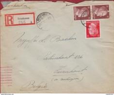 WW2 WWII 1943 Deutsches Reich Hitler 12 & 15 Pf. Pfennig  Briefmarke Nazi Deutschland Post Turnhout Neudamm - Deutschland