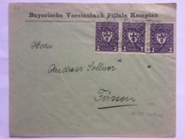 GERMANY 1922 Cover Kempten To Frissen Tied With X 3 Munich Exhibition 2 M - Deutschland