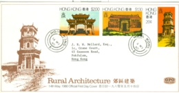 Hong Kong: 1980   Rural Architecture   FDC - Hong Kong (...-1997)