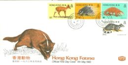 Hong Kong: 1982   Wild Animals     FDC - Hong Kong (...-1997)