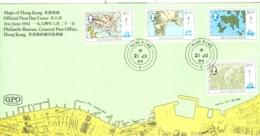 Hong Kong: 1984   Maps Of Hong Kong  FDC - Hong Kong (...-1997)