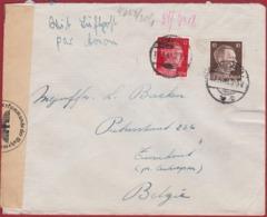 WW2 WWII 1943 Deutsches Reich Hitler 12 & 10 Pf. Pfennig Briefmarke Nazi Deutschland Obercommando Wehrmacht - Allemagne