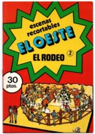SPAIN ANTIGUO CUADERNO DE RECORTABLES ESCENAS EL OESTE EL RODEO Nº 2 1979 DIBUJOS DE ISIDRO MONÉS VE FOTOS Y DESCRIPCIÓN - Children's