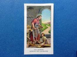 Santino Holy Card San Giuseppe Patrono Dei Lavoratori EGIM 274 - Santini