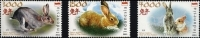 Indonesia 2011 Year Of The Rabbit 3v MNH - Chinese New Year