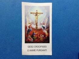 Santino Holy Card Gesu' Crocifisso E Anime Purganti FARS J101 - Santini
