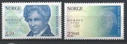 Norvège,  2002  N°1391/1392  Neufs**, Expo Nordia Avec Surcharge - Norvège