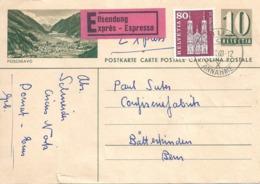 "Express PK 182  ""Poschiavo""  Chur - Bätterkinden          1960 - Interi Postali"
