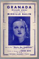 "Partition ""petit Format""  GRANADA Par MIREILLE BALIN 1935 (MPA PF 089) - Other"