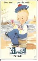 """06 - Nice - Carte Fantaisie """"Bon Vent...pas De Roulis"""" (carte à Système) - Nice"""