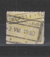 COB 112 Oblitération Centrale BRAINE-L'ALLEUD - Chemins De Fer