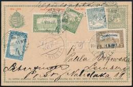 1918.07.11. Repülő Posta 4K50f + Kiegészítő Bérmentesítés Díjjegyes Levelezőlapon Lembergbe (min. 200.000) / Mi 211 + Ad - Sin Clasificación