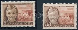 ** 1950 Gyermek Tévnyomat Postatiszta Luxus Példány (190.000) + Támpéldány - Sin Clasificación