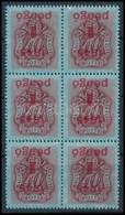 ** 1945 Kisegítő Portó 1P/40f 6-os Tömb Fordított Felülnyomással (216.000) Certificate: Glatz - Sin Clasificación