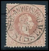 O 1867 50kr Rózsabarna Bélyeg 'GELD-ANWEISUNG SISSEK' (180.000) (felül Ollóval Vágva) - Sin Clasificación