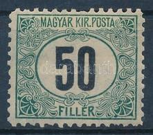 * 1903 Zöldportó 'B' 50f (100.000) (rövid Fogak/ Short Perfs) - Sellos