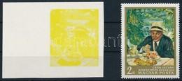 (*) 1967 Festmények III. 2Ft  ívszéli Vágott Bélyeg Magenta, Ciánkék, Fekete és Arany Színnyomat Nélkül. A Szakirodalomb - Sin Clasificación