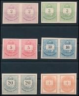 (*) 1874 Színes Számú Krajcáros + Hírlapbélyeg, Fogazatlan Próbanyomatok Kartonpapíron, 6 Klf érték Párokban, Rendkívül  - Sin Clasificación