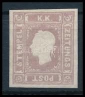 (*) 1858 Lila Hírlapbélyeg, Utángumizott. Certificate: Ferchenbauer - Sin Clasificación