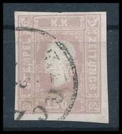O 1858 Lila Hírlapbélyeg 'ZIRCZ' (90.000) Certificate: Ferchenbauer - Sellos