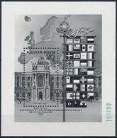 ** 1986 Európa Bécs Blokk Feketenyomat Zöld Sorszámmal, Példányszám 500 Db (70.000) / Mi Block 187 Blackprint With Green - Sin Clasificación