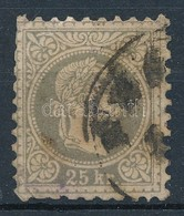 O 1867 25kr Szürkésibolya (65.000) (rövid Fogak / Short Perfs) - Sin Clasificación