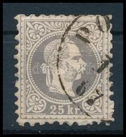 O 1867 25kr Szürkésibolya Bélyeg 'PO(ZSONY)' (65.000) (felül Tompa Fogak) - Sin Clasificación