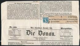 1855 Hírlapbélyeg Teljes újságon Marosvásárhely Bélyegzővel - Sin Clasificación