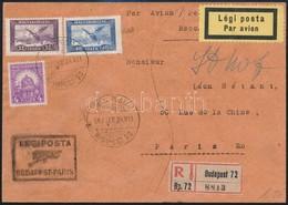 1927 Ajánlott Légi Levél Párizsba - Sin Clasificación