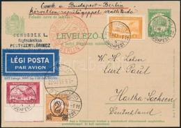 1931 Légi Levelezőlap Németországba - Sin Clasificación