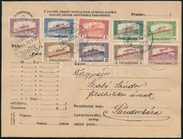 1919 Júl. 30. Magyar Tanácsköztársaság 9 Db Klf Parlament-es értéke Levélen 'BUDAPEST' - 'SÁNDORHÁZA' - Sin Clasificación