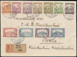 1922 Márc. 22. Tarifahelyes Ajánlott Levél 12K Bérmentesítéssel (6K Levéldíj + 6K Ajánlási Díj) 'RUM' - 'VADUZ' Nagyon R - Sin Clasificación