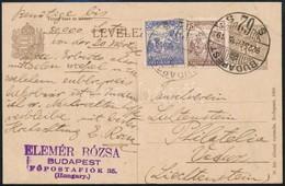 1922 Díjkiegészített Díjjegyes Levelezőlap Liechtensteinbe Küldve. Ritka Destináció!! - Sin Clasificación