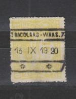 COB 124 Oblitération Centrale ST-NICOLAAS-WAAS - Chemins De Fer