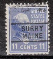 USA Precancel Vorausentwertung Preo, Locals Maine, Surry 729 - Vereinigte Staaten