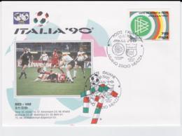 Italy Cover 1990 FIFA World Cup Football - Milano Germany-UAE 5:1 (G102-3) - 1990 – Italia