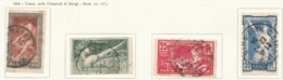 PIA - FRA - 1924 : Giochi Olimpici Di Parigi   - (Yv 183-86) - Usati