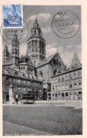 1948 .carte Maximum .allemagne .102527 . Rheinland Pfalz .cachet Mainz . - [7] Federal Republic