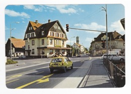 Autriche Dombirn Voralberg LUSTENAU Bahnhofstr M.Th Strasse En 1980 Renault R5 VW Käfer Rue De La Gare - Dornbirn